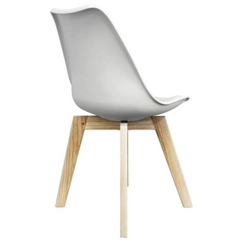 White Plastic Dining Chairs Eiffel Inspired White Plastic Dining Chair Squared Light Wood Legs