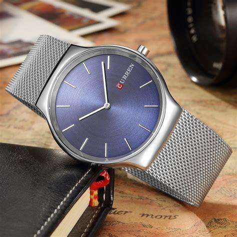 Curren Jam Tangan curren jam tangan analog pria mk55 silver