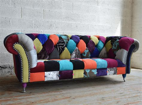 walton patchwork chesterfield sofa abode sofas