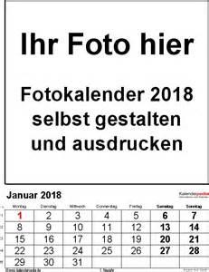 Kalender 2018 Vorlage Drucken Fotokalender 2018 Als Word Vorlagen Zum Ausdrucken Kostenlos