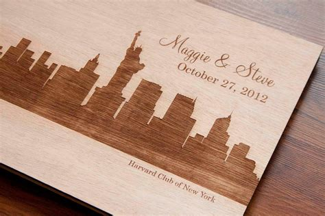 Handmade Guest Book - new york wedding inspiration handmade etsy weddings wood