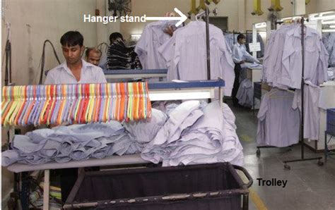 finishing section in garment industry different kind of material handling systems used in the