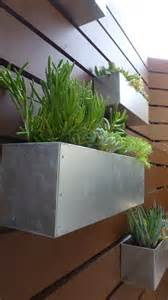 metal hanging planter box horizontal fence planter succulent