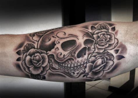 skull n rose tattoo sugar skull and by t o n e on deviantart