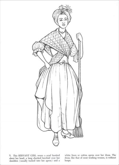 womens fashion colonial coloring pages coloring pages