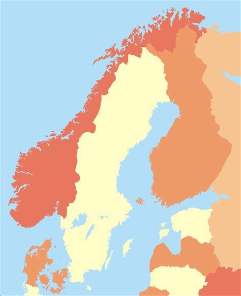 scandinavia map outline map of scandinavia clipart best