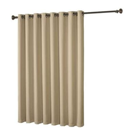 extra wide drapes for patio doors bella luna maya woven blackout beige grommet extra wide