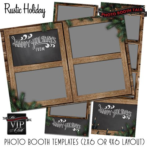 Rustic Holiday Photo Booth Talk 4x6 Photo Booth Templates