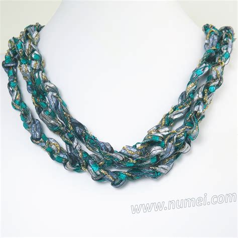 Handmade Ribbon - handmade ribbon necklace qr99115