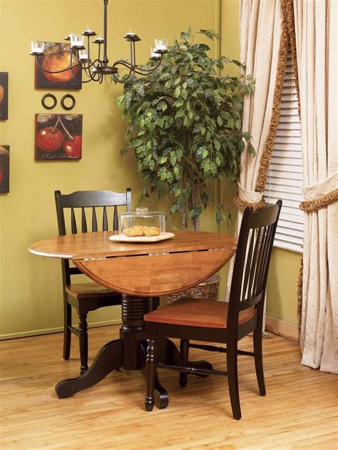 round dining room sets with leaf british isles 42 quot honey espresso round double drop leaf