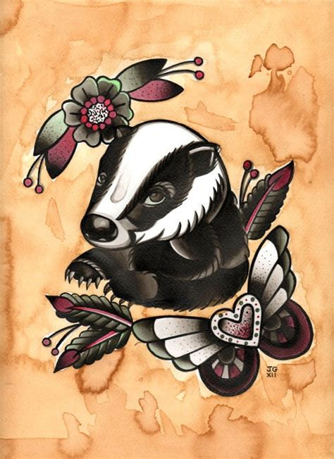 woodland tattoo designs 14 best images about badger tattoos on rivers