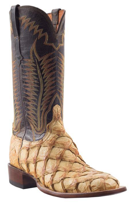 luchesse boots lucchese chocolate pirarucu boot