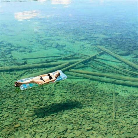 flathead lake montana one of the clearest lakes in the