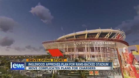 rams inglewood inglewood approves la area stadium backed by rams owner