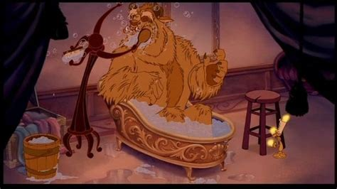 beast in the bathtub beast takes a bath beauty the beast pinterest beast