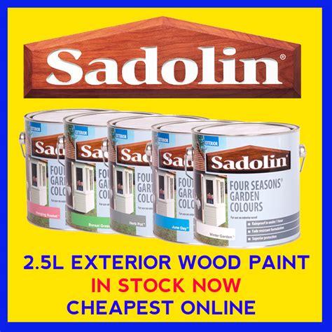 sadolin exterior wood paint sadolin four seasons exterior wood paint 2 5 litre ebay