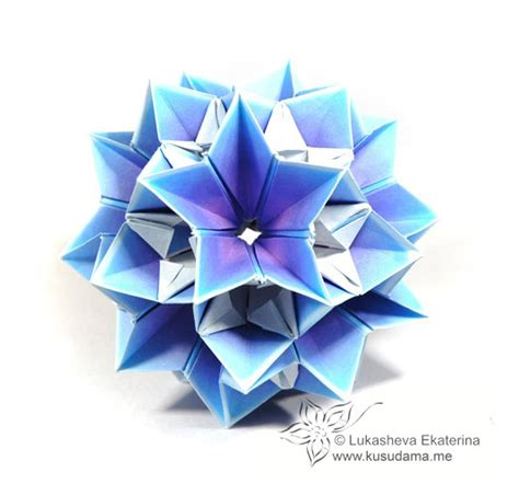 A4 Origami - origami library crocus a4 kusudama by ekaterina lukasheva