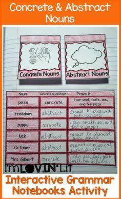 is room a concrete noun 3rd grade abstract nouns mes language arts anchor