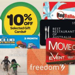 Woolies Gift Cards - expired 10 off various gift cards at woolworths until april 15 gift cards on sale