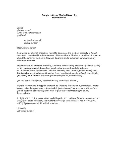medical necessity letter template images