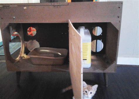 cat litter box cabinet australia build secret litter box storage in a stereo cabinet