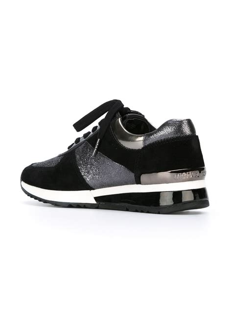 black michael kors sneakers lyst michael michael kors panelled sneakers in black