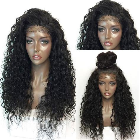 wedding hairstyles with lace wigs fluffy curly lace frontal synthetic wig in black