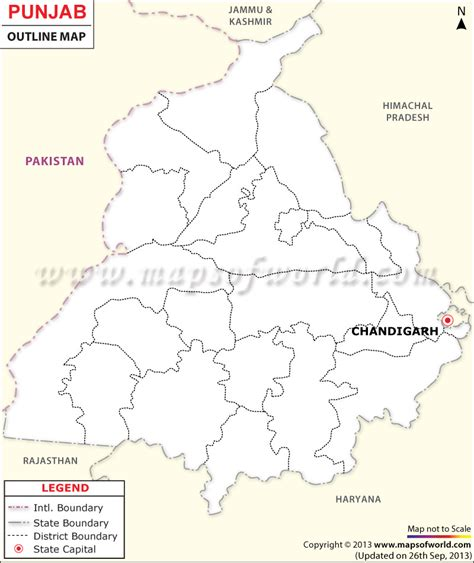 map of punjab punjab outline map