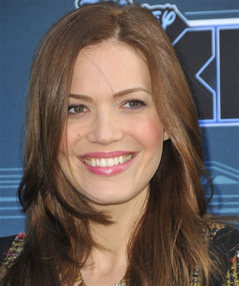 Mandy Moore Long Straight Casual Hairstyle   Medium Brunette