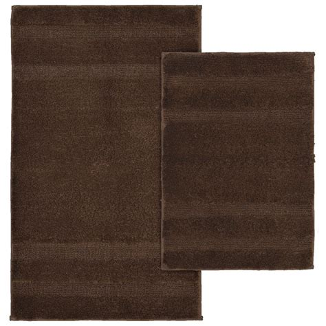 Washable Rug by Garland Rug Majesty Cotton Chocolate 21 In X 34 In