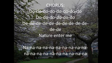 song on nature song with lyrics