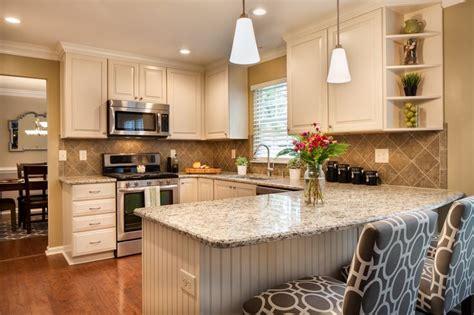 Kitchen Peninsula Beadboard Kitchen Ideas With White Cabinets Kitchen Transitional