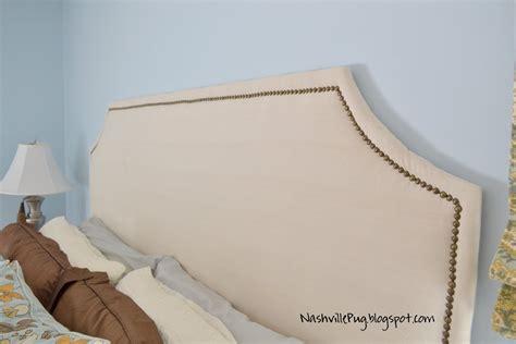 nailhead trim headboard nashvillepug drop cloth headboard with nailhead trim