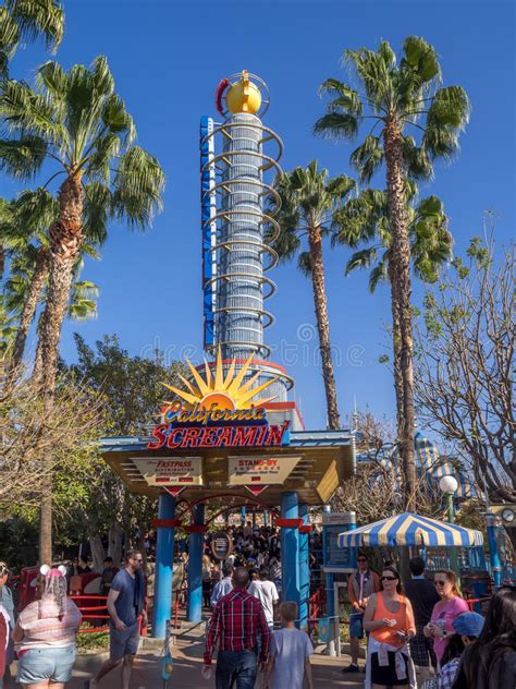 california screamin disney california adventure park editorial photography image 69005842