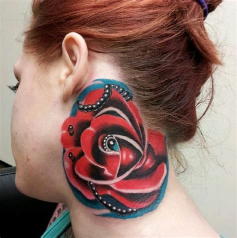 what does ruby rose neck tattoo say 15 beautiful neck tattoos tattoodo