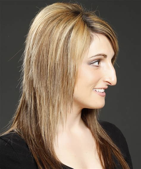 Long Straight Formal Hairstyle with Side Swept Bangs