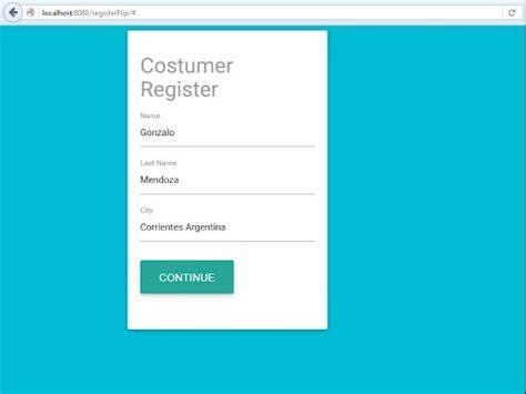form layout jsf jsf primefaces materialize register flip card form