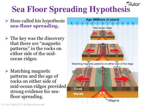 Used As Evidence For Sea Floor Spreading by Plate Tectonics
