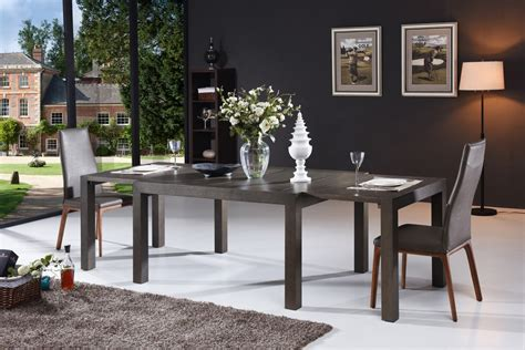 modern grey oak extendable dining table los angeles