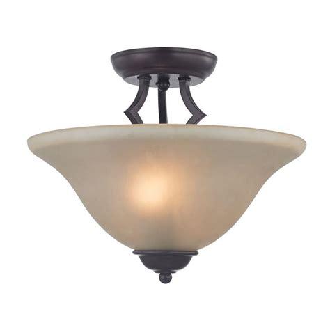 titan lighting kingston 2 light rubbed bronze ceiling