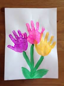 Spring Ideas Handprint Flower Craft Spring Craft Preschool Craft