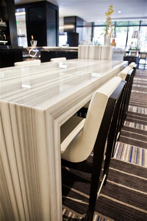 Restaurant Countertop by Commercial Restaurant White Marble Sealing 415 671