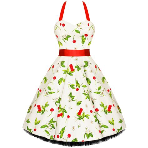 50s swing rkh7 hearts roses cherry rockabilly dress pin up vintage