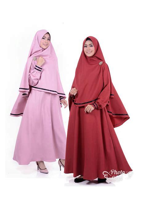Gamis Syari gamis syari dengan jilbab asma bahan balotelli butik naura