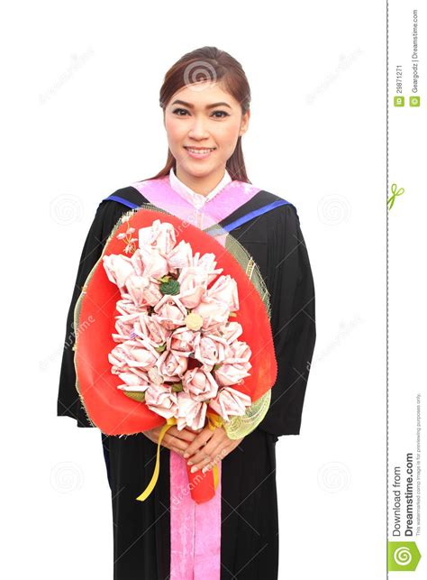 graduation women wear degree suit stock image image