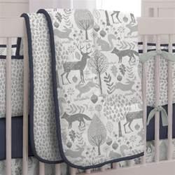 navy and gray woodland 3 crib bedding set carousel