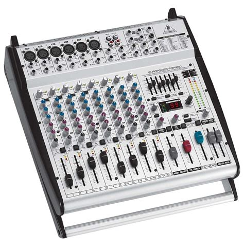 Mixer Behringer 12 Channel Bekas behringer pmh1000 12 channel powered mixer with fx 400 watts