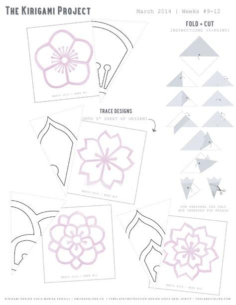 free printable kirigami templates omiyage blogs the kirigami project week 12 double