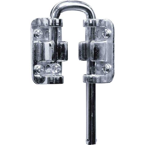 Locks For Patio Sliding Doors Prime Line Patio Chrome Nickel Sliding Door Loop Lock U 9846 The Home Depot