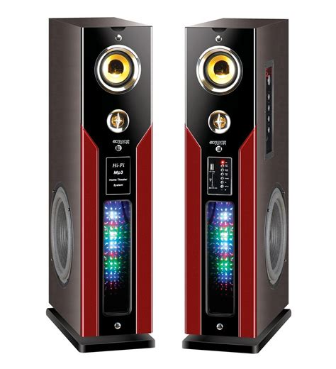 Subwofer Active 10 Inch Usb Sd Radio Input 3 5mm B Murah 2 0 tower active speaker with usb sd home theater system buy 2 0 active speaker 2 0 active